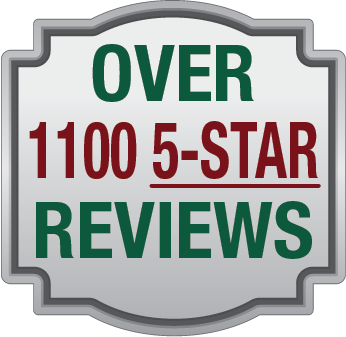 Over 1100 5-Star Reviews